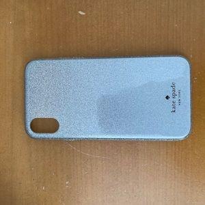 Kate Spade silver glitter IPhone X/XS case